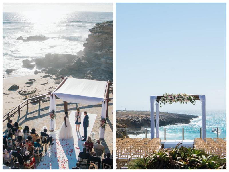 Oceanfront Wedding Ceremony at Arriba by the sea