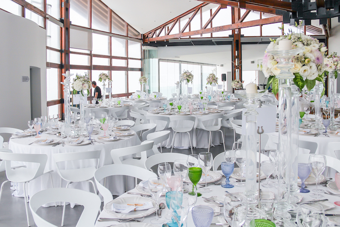 arriba by the sea wedding reception in portugal